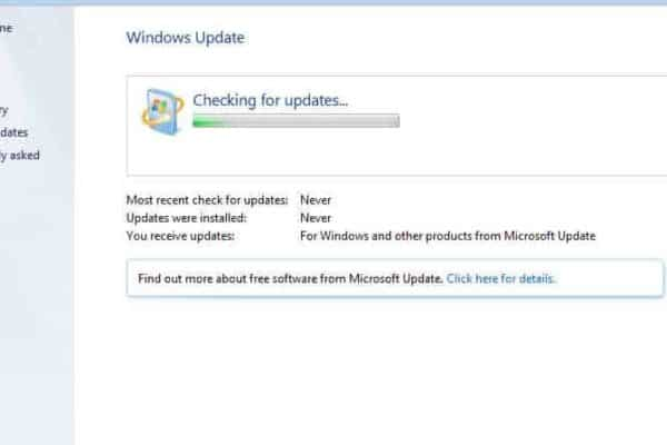 Windows Home Server 2011: Cannot check for updates error