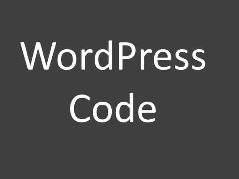 WordPress code I always use on new installs