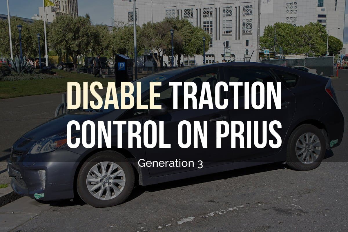 Disable traction control on Prius generation 3